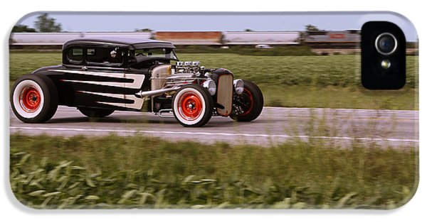1931 Roadster iPhone 5 Cases - Headed to the Drags iPhone 5 Case by Dennis Hedberg