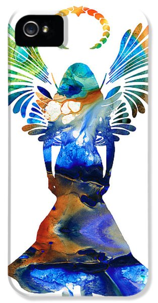 Protection iPhone 5 Cases - Healing Angel - Spiritual Art Painting iPhone 5 Case by Sharon Cummings