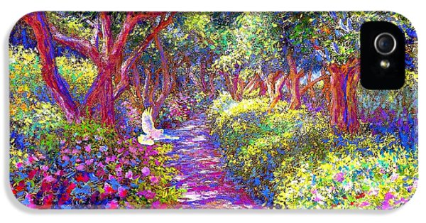 Dove And Healing Garden IPhone 5 / 5s Case by Jane Small