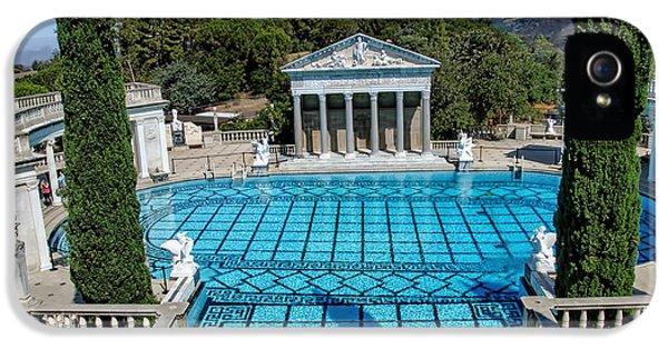 Casa Encantada iPhone 5 Cases - Hearst Castle Pool - California iPhone 5 Case by Jon Berghoff