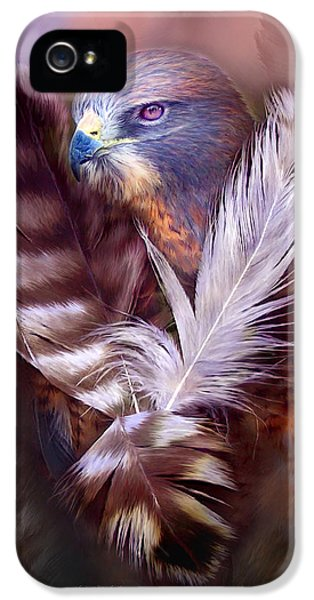 Heart Of A Hawk IPhone 5 / 5s Case by Carol Cavalaris