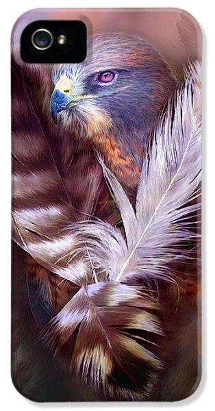 Hawk iPhone 5 Cases - Heart Of A Hawk iPhone 5 Case by Carol Cavalaris
