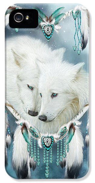Native American iPhone 5 Cases - Heart Of A Wolf iPhone 5 Case by Carol Cavalaris