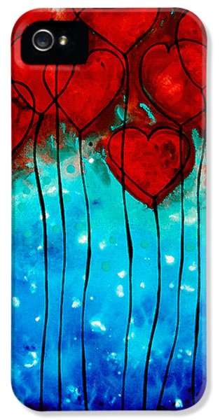Hearts On Fire - Romantic Art By Sharon Cummings IPhone 5 / 5s Case by Sharon Cummings
