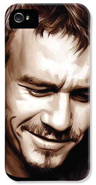 Heath Ledger Artwork IPhone 5 / 5s Case by Sheraz A