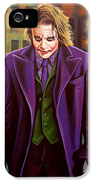 Actress iPhone 5 Cases - Heath Ledger as the Joker iPhone 5 Case by Paul  Meijering