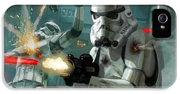 War iPhone 5 Cases - Heavy Storm Trooper - Star Wars the Card Game iPhone 5 Case by Ryan Barger