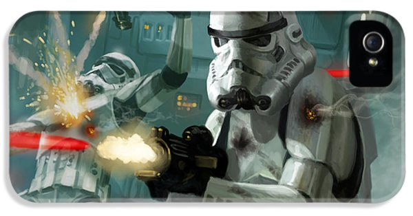 Star iPhone 5 Cases - Heavy Storm Trooper - Star Wars the Card Game iPhone 5 Case by Ryan Barger