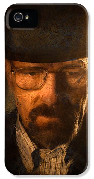 Tv Show iPhone 5 Cases - Heisenberg iPhone 5 Case by Ian Hufton