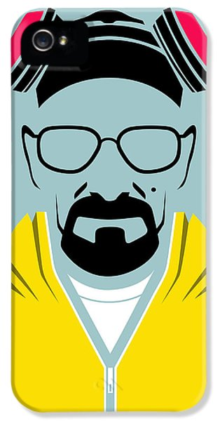 Bad iPhone 5 Cases - Heisenberg Poster iPhone 5 Case by Naxart Studio