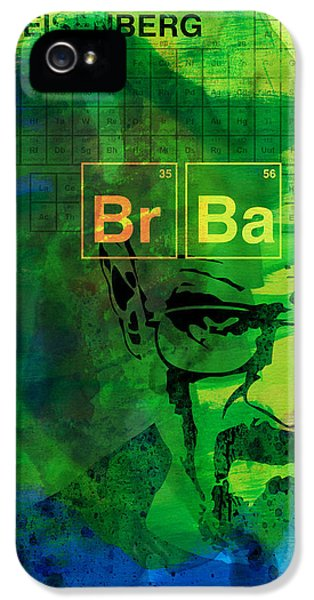 Tv Show iPhone 5 Cases - Heisenberg Watercolor iPhone 5 Case by Naxart Studio
