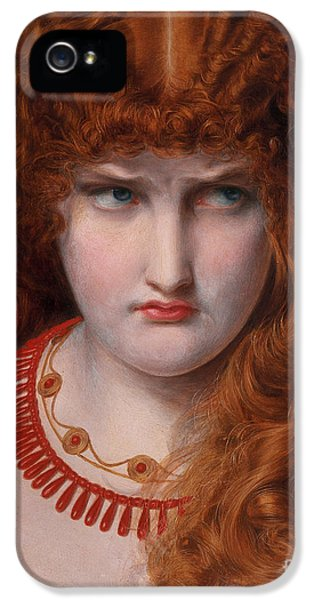 Scowl iPhone 5 Cases - Helen of Troy iPhone 5 Case by Anthony Frederick Augustus Sandys
