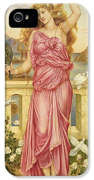 Dove iPhone 5 Cases - Helen of Troy iPhone 5 Case by Evelyn De Morgan