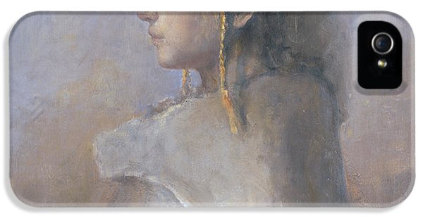 Clothing iPhone 5 Cases - Helene In Profile  iPhone 5 Case by Odd Nerdrum