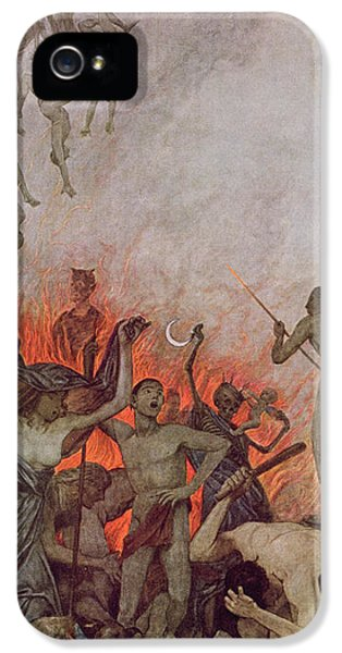 Nudity iPhone 5 Cases - Hell iPhone 5 Case by Hans Thoma