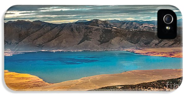 Caribou iPhone 5 Cases - Henrys Lake Panoraminc iPhone 5 Case by Robert Bales
