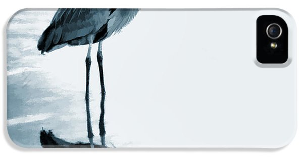 High Key iPhone 5 Cases - Heron in the Shallows iPhone 5 Case by Carol Leigh
