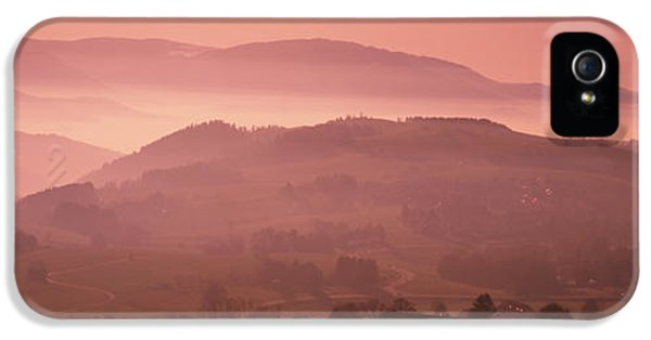 Pink Sunrise iPhone 5 Cases - High Angle View Of A Forest, St. Peter iPhone 5 Case by Panoramic Images