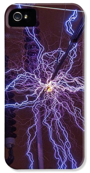 High Voltage Electrical Discharge IPhone 5 / 5s Case by David Parker