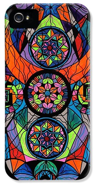 Geometric iPhone 5 Cases - Higher Purpose iPhone 5 Case by Teal Eye  Print Store