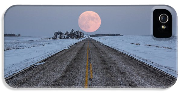 Moonrise iPhone 5 Cases - Highway to the Moon iPhone 5 Case by Aaron J Groen