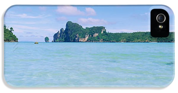 Indian Ocean iPhone 5 Cases - Hills In The Ocean, Loh Dalum Bay, Ko iPhone 5 Case by Panoramic Images