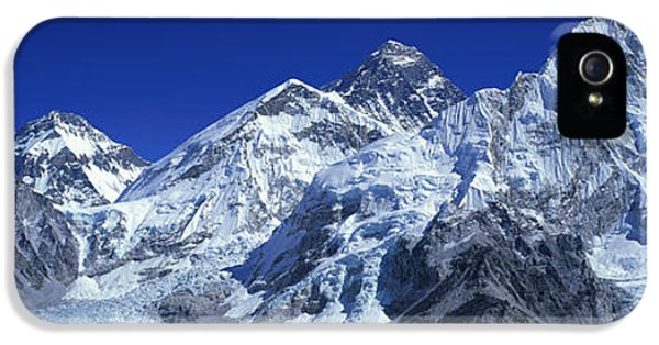 Mountain iPhone 5 Cases - Himalaya Mountains, Nepal iPhone 5 Case by Panoramic Images