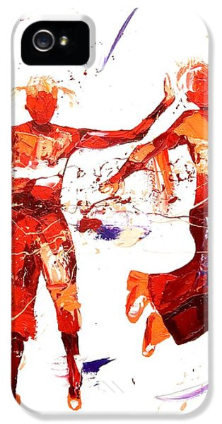 Exuberance iPhone 5 Cases - Hip Hop iPhone 5 Case by Penny Warden