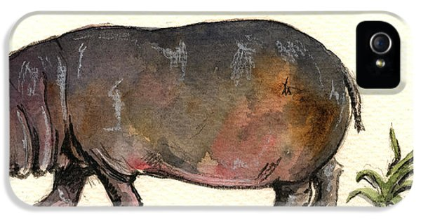 Hippo IPhone 5 / 5s Case by Juan  Bosco