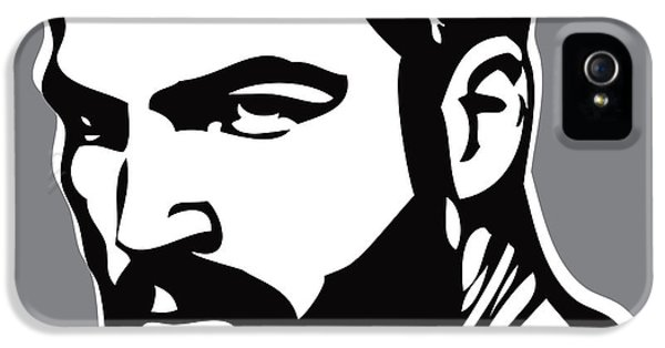 Face iPhone 5 Cases - Hipster iPhone 5 Case by Chris  Lopez