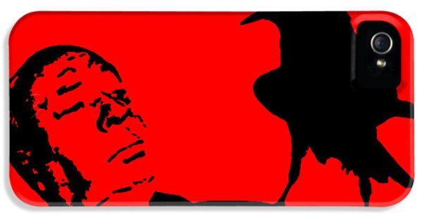 Macabre iPhone 5 Cases - Hitchcock in Red iPhone 5 Case by Jera Sky