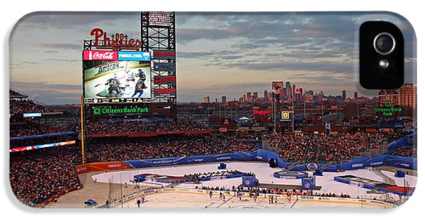 Ballpark iPhone 5 Cases - Hockey at the Ballpark iPhone 5 Case by David Rucker