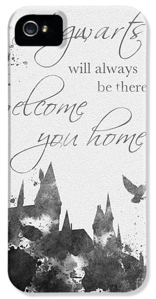 Hogwarts Quote Black And White IPhone 5 / 5s Case by Rebecca Jenkins