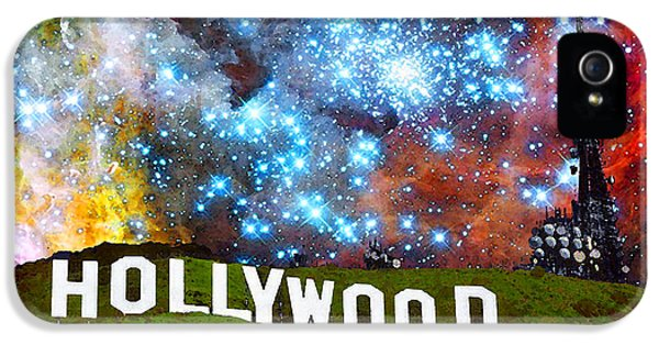 Motion Picture iPhone 5 Cases - Hollywood 2 - Home Of The Stars By Sharon Cummings iPhone 5 Case by Sharon Cummings
