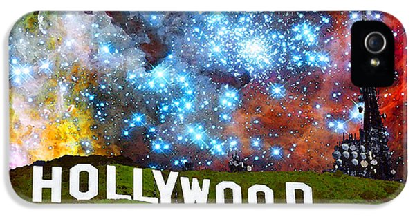 Glamorous iPhone 5 Cases - Hollywood 2 - Home Of The Stars By Sharon Cummings iPhone 5 Case by Sharon Cummings