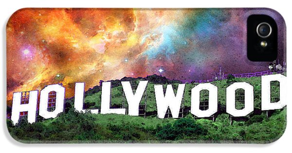Motion Picture iPhone 5 Cases - Hollywood - Home of the Stars by Sharon Cummings iPhone 5 Case by Sharon Cummings