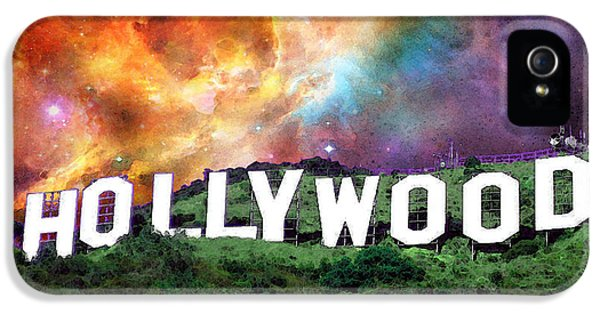 Glamorous iPhone 5 Cases - Hollywood - Home of the Stars by Sharon Cummings iPhone 5 Case by Sharon Cummings