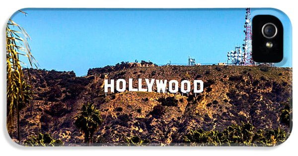 Drive iPhone 5 Cases - Hollywood Sign iPhone 5 Case by Az Jackson