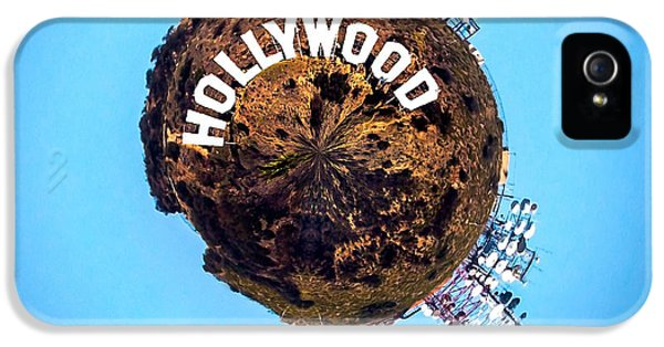 United States Of America iPhone 5 Cases - Hollywood sign Circagraph iPhone 5 Case by Az Jackson