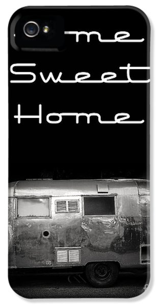 Trailer iPhone 5 Cases - Home Sweet Home Vintage Airstream iPhone 5 Case by Edward Fielding