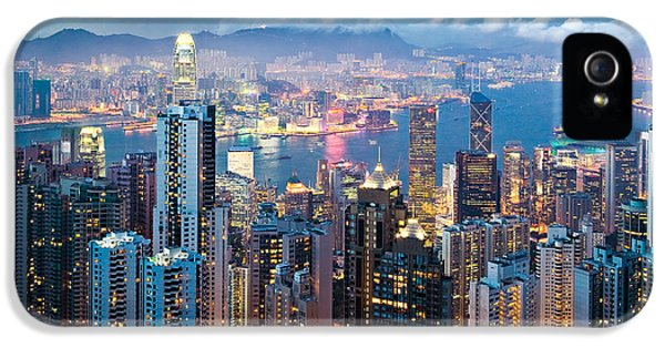 Hong Kong At Dusk IPhone 5 / 5s Case by Dave Bowman