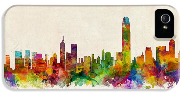 Hong Kong Skyline IPhone 5 / 5s Case by Michael Tompsett