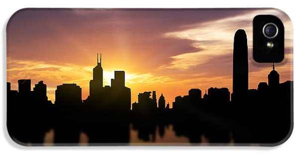 Hong Kong Sunset Skyline  IPhone 5 / 5s Case by Aged Pixel
