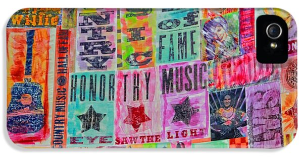 Honor iPhone 5 Cases - Honor Thy Music Blanket iPhone 5 Case by Dan Sproul
