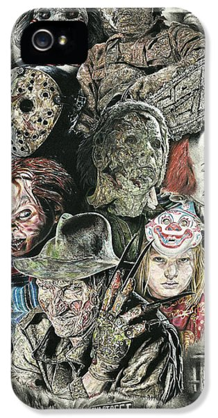 Fear iPhone 5 Cases - Horror Movie Murderers iPhone 5 Case by Daniel  Ayala