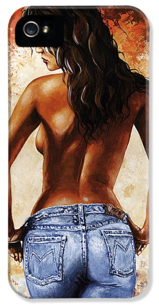 Charming iPhone 5 Cases - Hot Jeans 02 blue iPhone 5 Case by Emerico Imre Toth