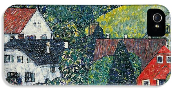 Hut iPhone 5 Cases - Houses at Unterach on the Attersee iPhone 5 Case by Gustav Klimt
