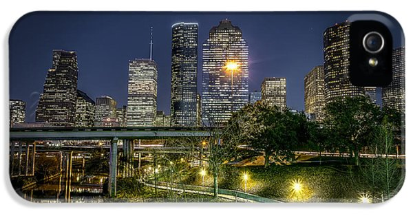 Bayou iPhone 5 Cases - Houston on the Bayou iPhone 5 Case by David Morefield