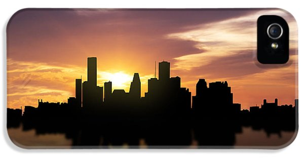 Control iPhone 5 Cases - Houston Sunset Skyline  iPhone 5 Case by Aged Pixel