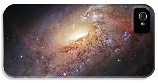 Skyscapes iPhone 5 Cases - Hubble view of M 106 iPhone 5 Case by Adam Romanowicz